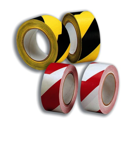 Hazard Tape Soft PVC Internal Use 50mmx33m Red and White