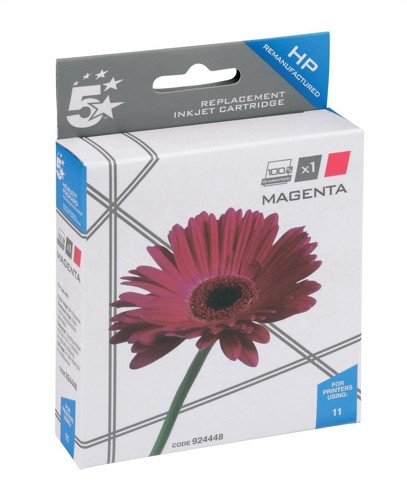 5 Star Compatible Inkjet Cartridge Page Life 1750pp Magenta [HP No. 11 C4837A Alternative]