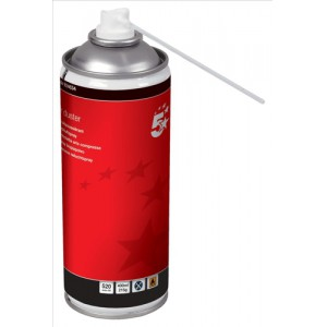 5 Star Air Duster Can HFC Free Compressed Gas Flammable 400ml [Pack 4]