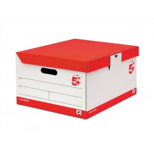 5 Star Storage Trunk W383xD440xH250mm White and Black [Pack 10]