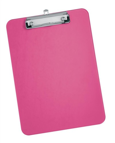 5 Star Clipboard Plastic Durable with Rounded Corners A4 Pink