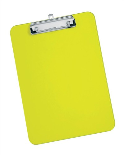 5 Star Clipboard Plastic Durable with Rounded Corners A4 Lime Green