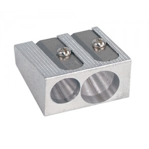 5 Star Pencil Sharpener Pocket-sized Metal for Max. Diameter 8mm Double Hole [Pack 5]