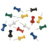 5 Star Push Pins Assorted Opaque [Pack 20]