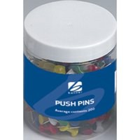 5 Star Push Pins Assorted Translucent [Pack 100]