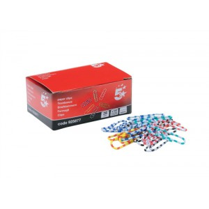 5 Star Zebra Paperclips Length 28mm Assorted [Pack 150]