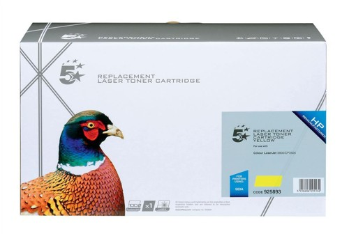 5 Star Compatible Laser Toner Cartridge Page Life 6000pp Yellow [HP No. 503A Q7582A Alternative]