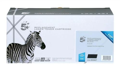 5 Star Compatible Laser Toner Cartridge Page Life 3000pp Black [HP No. 53A Q7553A Alternative]