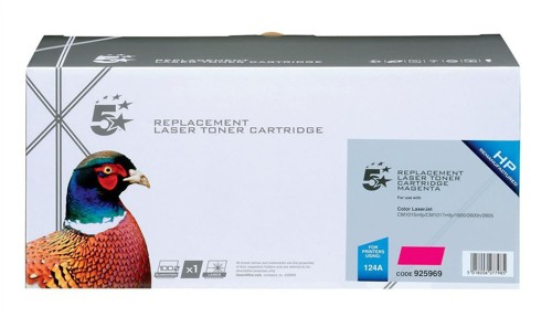 5 Star Compatible Laser Toner Cartridge Page Life 2000pp Magenta [HP No. 124A Q6003A Alternative]