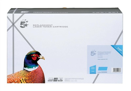 5 Star Compatible Laser Toner Cartridge Page Life 10000pp Cyan [HP No. 363A Q5951A Alternative]