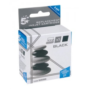 5 Star Compatible Inkjet Cartridge Page Life 300pp Black [HP No. 21 C9351A Alternative]