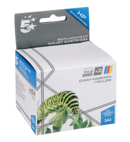 5 Star Compatible Inkjet Cartridge Page Life 900pp Colour [HP No. 344 C9505EE Alternative] [Pack 2]