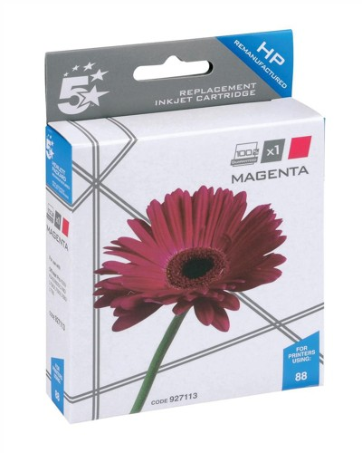 5 Star Compatible Inkjet Cartridge Page Life 1200pp Magenta [HP No. 88XL C9392A Alternative]