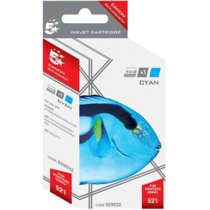 5 Star Compatible Inkjet Cartridge Page Life 470pp Cyan [Canon CLI-521C Alternative]