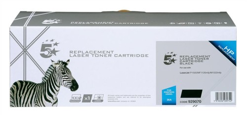 5 Star Compatible Laser Toner Cartridge Page Life 2000pp Black [HP No. 36A CB436A Alternative]