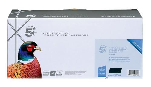 5 Star Compatible Laser Toner Cartridge Page Life 5000pp Black [Brother TN135BK Alternative]