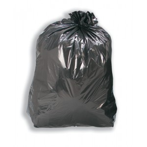 Refuse Sacks Recycled 110 Litre Capacity Black [Box 200]