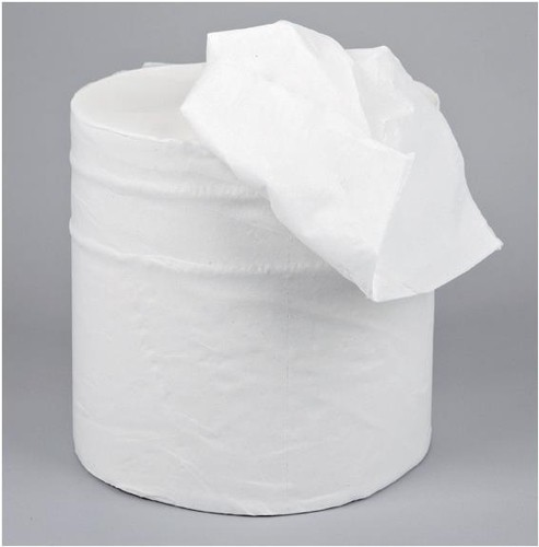 5 Star Centrefeed Tissue Refill for Dispenser White Two-ply 150m [Pack 6]