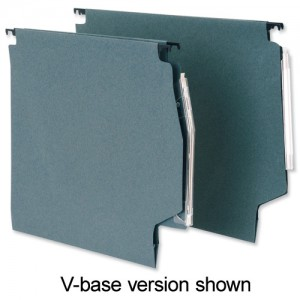 5 Star Lateral File Manilla with Clear Tabs and Inserts 215gsm W330mm Green Ref 100331157 [Pack 50]