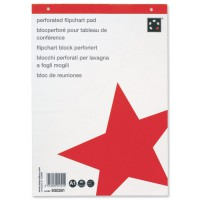 Image for 5 Star Flipchart Pad Recycled Perforated 70gsm 40 Sheets A1 White [Pack 5]