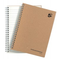 Image for 5 Star Notebook Wirebound Hard Cover Recycled 80gsm A5 Manilla [Pack 5]