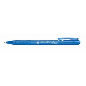 5 Star Ball Pen Retractable Medium 1.0mm Tip 0.7mm Line Blue [Pack 20]