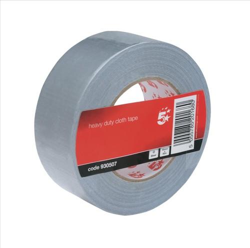 5 Star Cloth Tape Heavyduty Waterproof Tearable Multisurface 50mmx25m