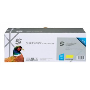5 Star Compatible Laser Toner Cartridge Page Life 1400pp Yellow [HP No. 125A CB542A Alternative]