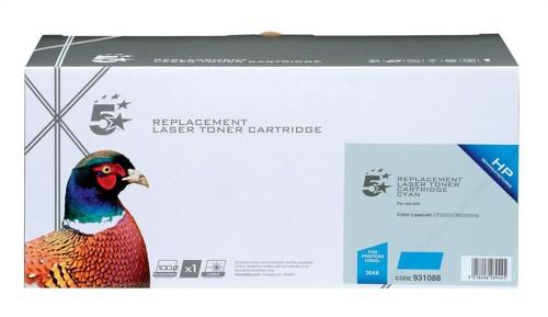 5 Star Compatible Laser Toner Cartridge Page Life 2800pp Cyan [HP No. 304A CC531A Alternative]