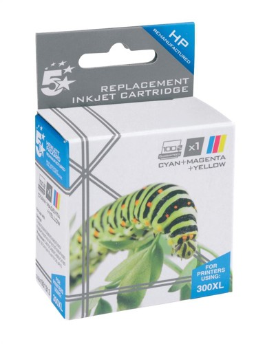 5 Star Compatible Inkjet Cartridge Page Life 440pp Colour [HP No. 300XL CC644EE Alternative]