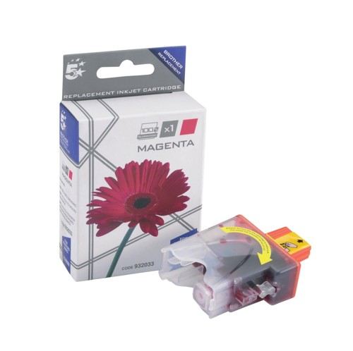 5 Star Compatible Inkjet Cartridge Page Life 400pp Magenta [Brother LC900M Alternative]