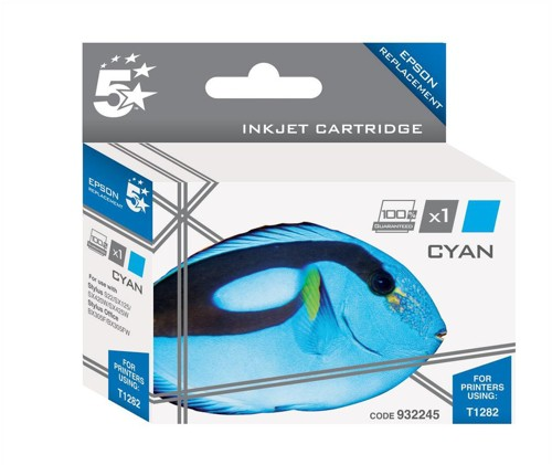 5 Star Compatible Inkjet Cartridge Capacity 3.5ml Cyan [Epson T1282 Alternative]