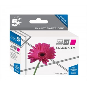 5 Star Compatible Inkjet Cartridge Capacity 3.5ml Magenta [Epson T1283 Alternative]