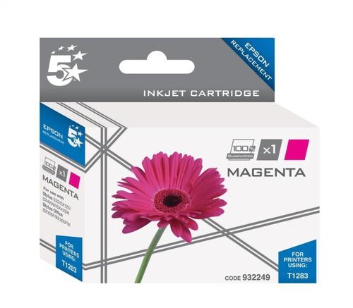 5 Star Compatible Inkjet Cartridge Capacity 3.5ml Magenta [Epson T1283 Alternative]