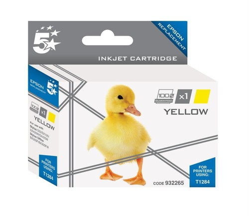 5 Star Compatible Inkjet Cartridge Capacity 3.5ml Yellow [Epson T1284 Alternative]