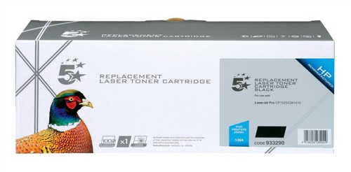 5 Star Compatible Laser Toner Cartridge Page Life 2000pp Black [HP No. 128A CE320A Alternative]