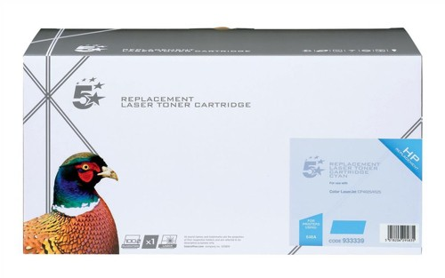 5 Star Compatible Laser Toner Cartridge Page Life 11000pp Cyan [HP No. 648A CE261A Alternative]