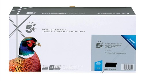 5 Star Compatible Laser Toner Cartridge Page Life 3500pp Black [HP No. 304A CC530AD Alternative] [Pack 2]