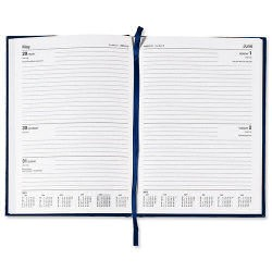 5 Star 2016 A5 2 Day To Page Diary Blue