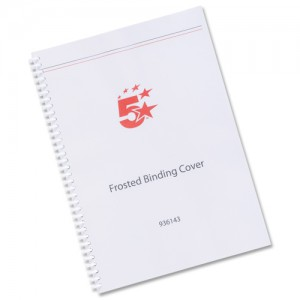 5 Star Frost Binding Covers Pk100