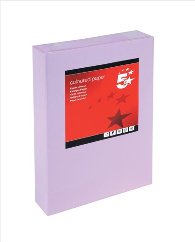 5 Star Tinted A4 80gsm Med Violet Pk500