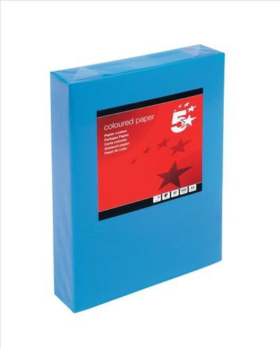5 Star Tinted A4 80gsm Deep Blue Pk500