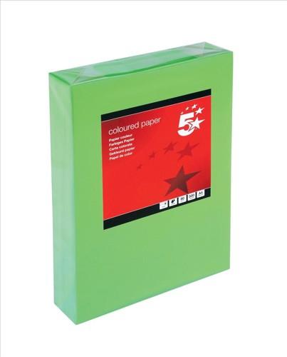 5 Star Tinted A4 80gsm Deep Green Pk500