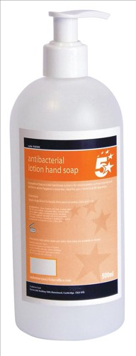 5 Star Anti-Bacterial Lotion Hand Soap 500ml