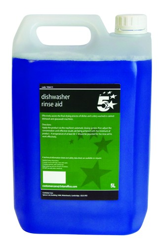 5 Star Dishwasher Rinse Aid 5 Litres