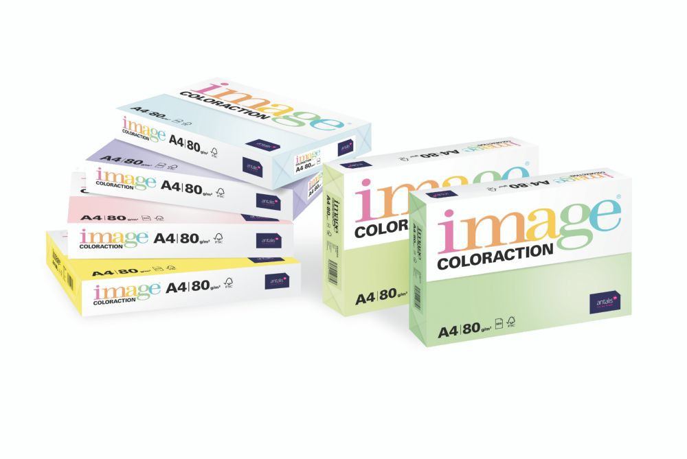 Coloraction Tinted Paper Neon Green (Rio) FSC4 A4 210X297mm 80Gm2 Pack 500