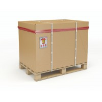 Image for 1/2 Half Palletised Container 1070 x 870 x 550mm Pallet/Cap/Sleeve/Tray