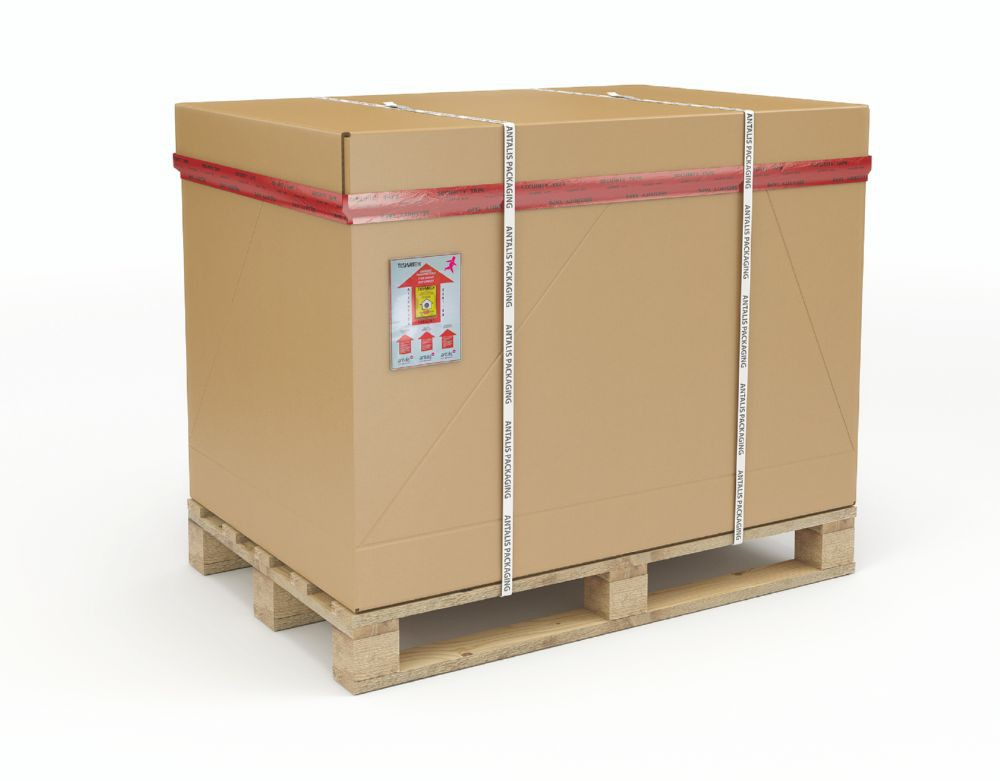 1/1 Full Euro Palletised Container 1170 x 770 x 660mm Pallet/Cap/Sleeve/Tray