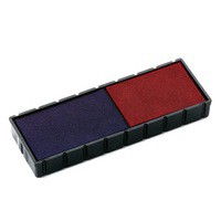 Colop E/12/2 Replacement Pad Blue/Red Pack of 2