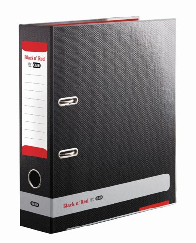 Black n Red by Elba Lever Arch File 80mm Spine A4 Ref 400051488 [x3 and FREE A5 Notebook] Jan-Dec 2015